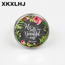XKXLHJ New Fashion Ring Letter Printing Glass Dome Bible Men And Women Christian Jewelry