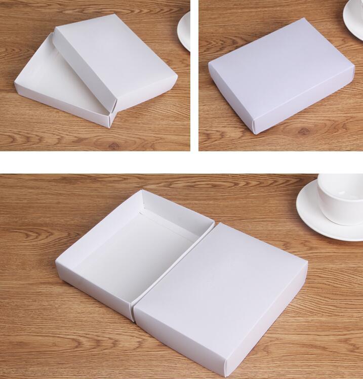 Size: 19.5*14.5*4cm White storage gift boxes paper 90pcs white cardboard box for packing cajas de carton decoradas