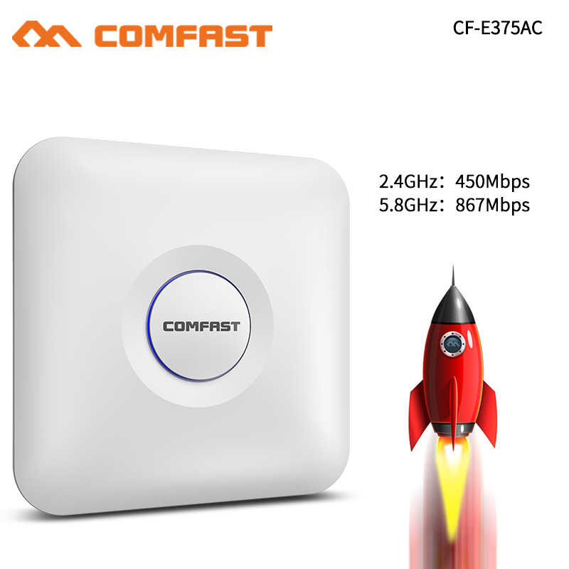 Comfast Home Router Wireless Acess Point AP 1300Mbps Wi fi Signal Amplifier 4dbi Antenna 5.8Ghz Wireless Signal Booster ExtenderComfast Home Router Wireless Acess Point AP 1300Mbps Wi fi Signal Amplifier 4dbi Antenna 5.8Ghz Wireless Signal Booster Extender
