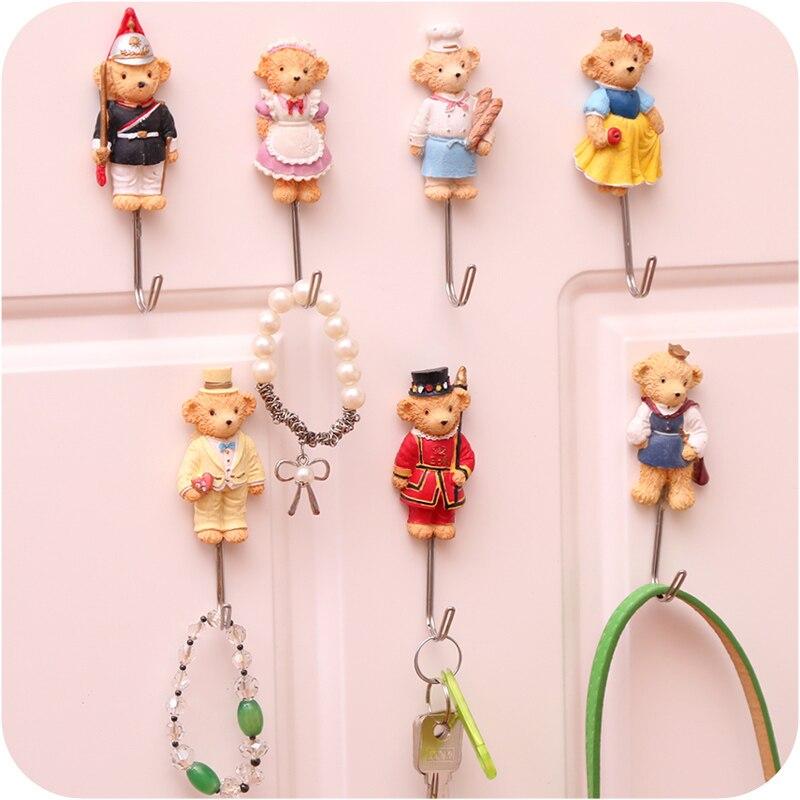 Cute Cartoon Decorative Wall Hook Door Sticky Hangers Strong