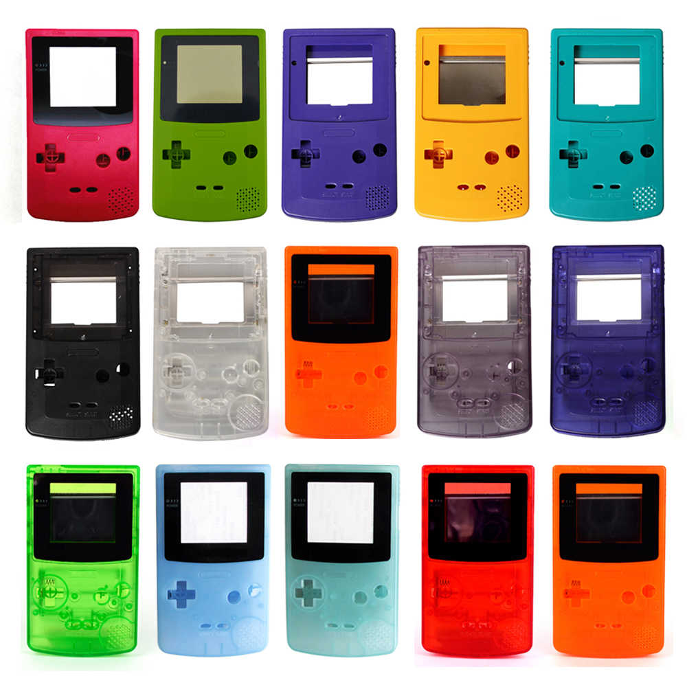 Untuk Nintendo Game Boy Warna GBC Housing Case Penutup Shell Untuk GB C Housing Case Pack 13 Warna