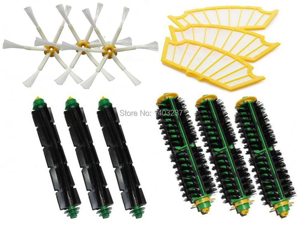 Bristle Brush Flexible Beater Brush Side Brush Filters for iRobot Roomba 500 Series 510, 530, 535, 540, 550, 560, 570, 580, 610 ntnt free post new 2 x flexible beater brush for irobot roomba 500 series 550 560 570 580 510 530