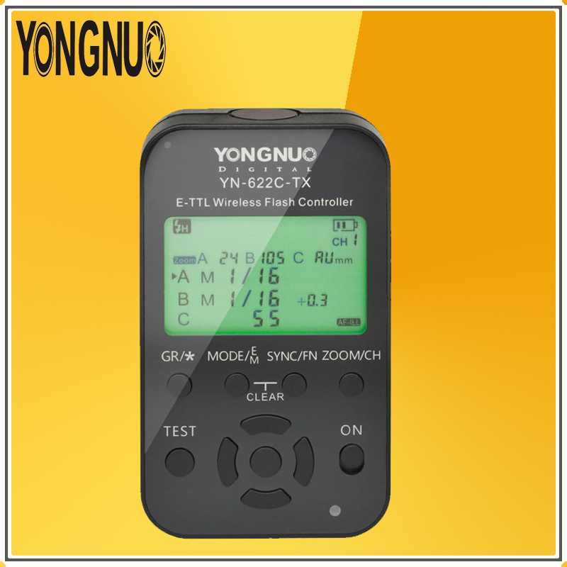 YONGNUO YN622C-TX E-TTL wireless flash controller is a YN622C E-TTL radio flash transceiver support For All Canon DSLR Cameras nissin di600 фотовспышка для canon e ttl e ttl ii
