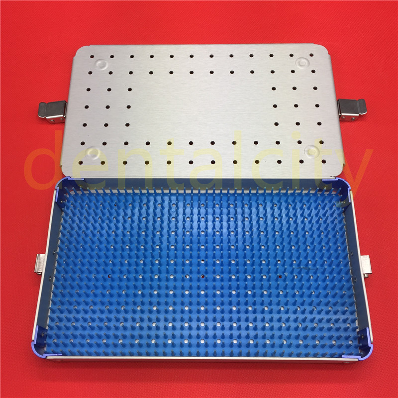 Surgical instrument Silver Aluminium alloy sterilization tray case new aluminium alloy sterilization tray sterilization case surgical instruments