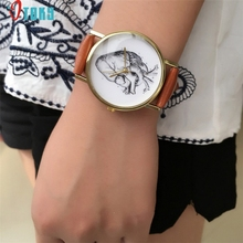 watch OTOKY Willby Heart Organ Printed PU Leather Watch Women Mens Quartz Wrist Watches 161213 Drop Shipping