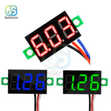 "0,36 zoll 0,36 ""DC 0-30V Super Mini Digitale Rot Grün Blau LED Display Auto Voltmeter Spannung volt Panel Meter batterie monitor(China)"