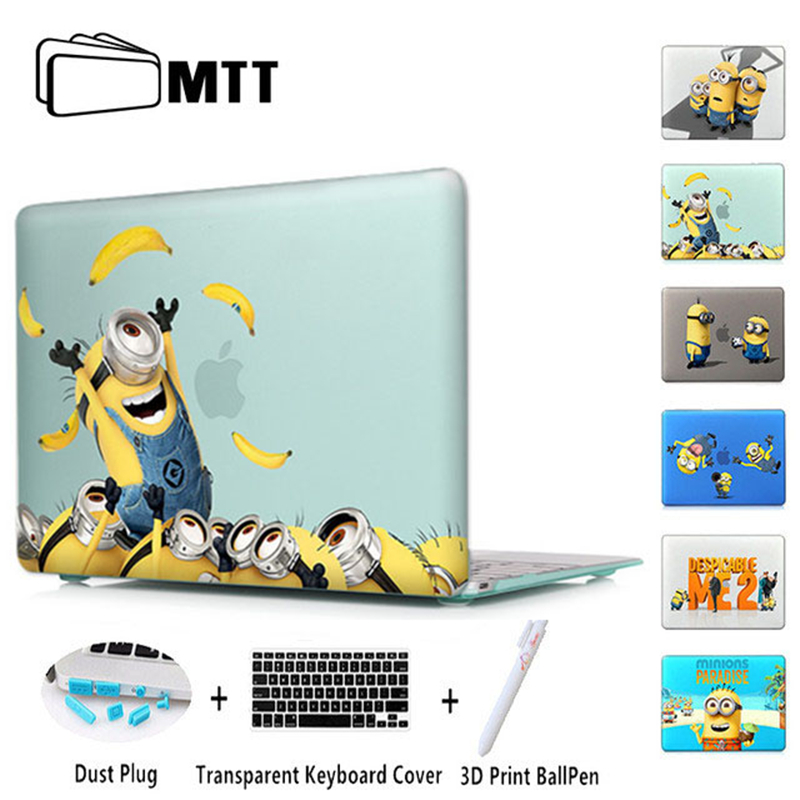 Minion Dressing Room Matte Laptop Case Cover Sleeve For Macbook Air 11 A1465 Air 13 inch A1466 Pro 13 A1278 Retina 13 A1502 100pcs lot 13inch 15inch 17inch for macbook pro a1278 a1286 a1297 bottom cover rubber feet