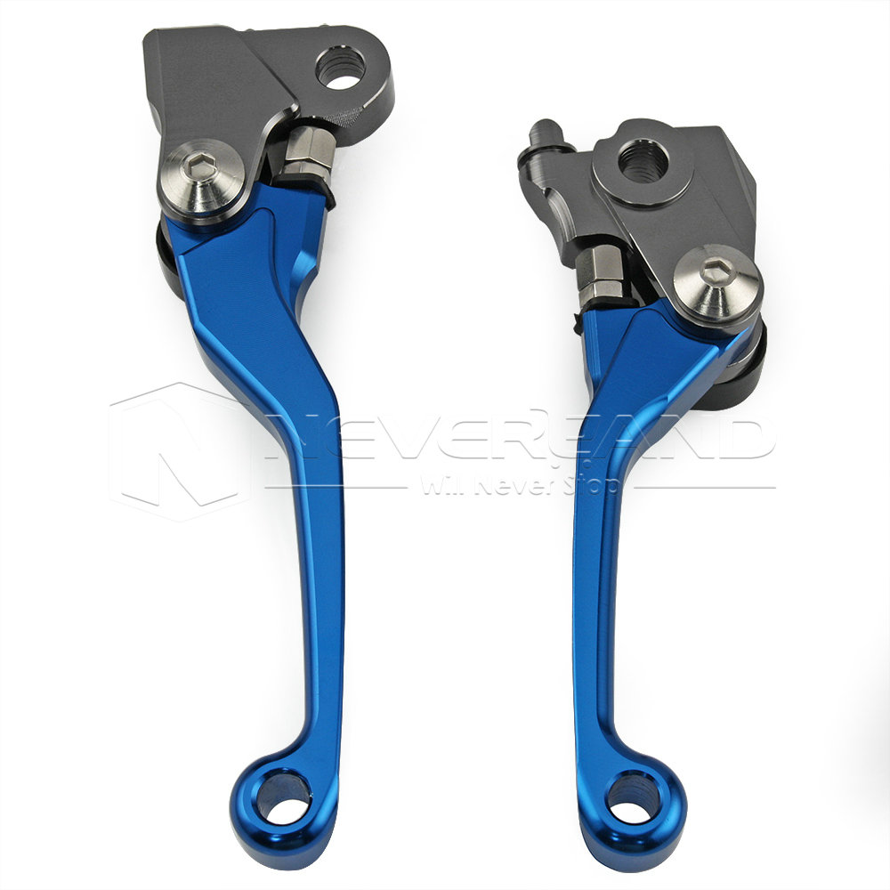 Blue CNC Pivot Brake Clutch Levers for Honda CRF250R CRF450R CRF 250R 450R 2007 2008 2009 2010 2011 2012 2013 2014 2015 2016 fxcnc cnc pivot brake clutch levers motocross dirtbike a pair 9 colors for kawasaki kx250f 05 12 2006 2007 2008 2009 2010 2011