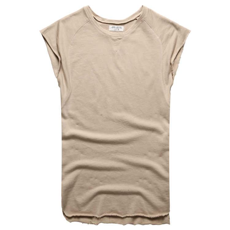 Men's 민소매 니트는 늘어남도 민소매 땀받이 폭 어깨 vest 보디 빌딩을 조 (top men 면 summer new T4364
