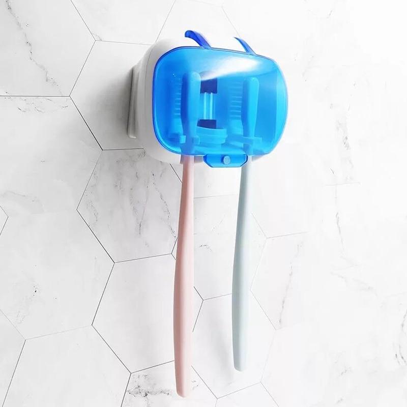 Luz UV Escova De Dentes mini Esterilizador UV Lâmpada de Desinfecção Ultravioleta Caixa de Parede-montado Titular Automática Escova de Dentes Higiene Oral