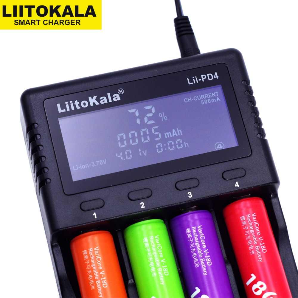 Liitokala Lii-PD4 S1 LCD شاحن بطارية ، شحن 18650 3.7V 18350 18500 21700 20700B 10440 26650 1.2V AA AAA نيمه بطارية