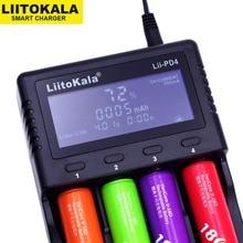 Зарядное ЖК устройство Liitokala Lii PD4 S1, устройство для зарядки аккумуляторных NiMh батарей типа AA/AAA, совместимы с аккумуляторами 3,7 В 18650, 1,2 В 18350/18500/21700/20700B/10440/26650