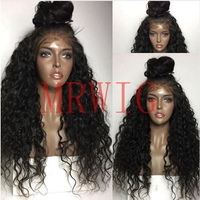MRWIG factory sale price free part baby hair high density 180% 360g glueless front lace wig for woman baby hair lace hair