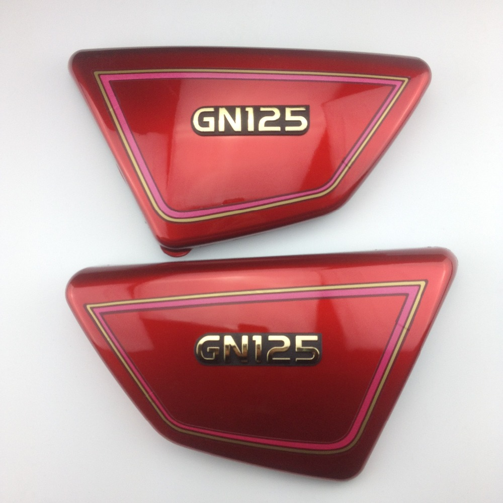 1 pair Original high quality Right & Left Frame Side Covers Panels for suzuki GN 125 GN125 red, SUZUKI GN125 PARTS high quality 1 pair right