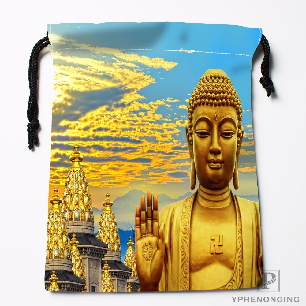 Custom Buddha Drawstring Bags Printing Fashion Travel Storage Mini Pouch Swim Hiking Toy Bag Size 18x22cm#180412-11-10