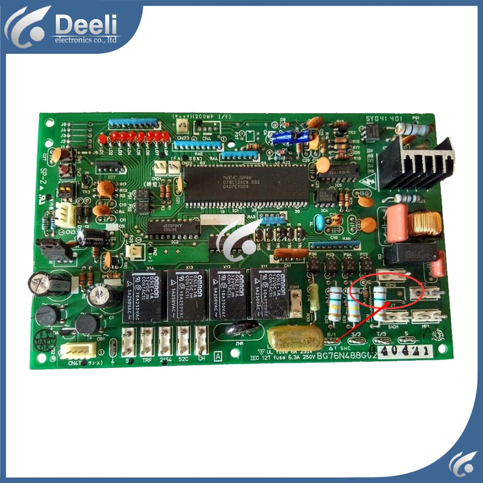 95% new used baord for air conditioning computer board BG76N488G02 good working air conditioning computer board juk7 820 197 ver1 0 12 25 2002 used disassemble