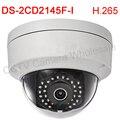 Multi-language DS-2CD2145F-I 4MP Mini Dome IP Network Camera POE CCTV Camera IP67 áudio gravação de cartão SD