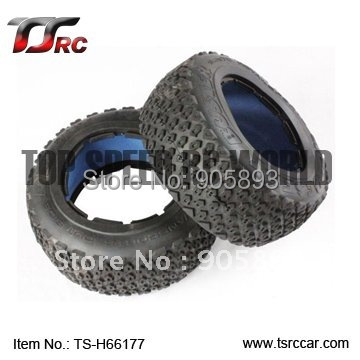 5T Rear Off-road Tire Set For 1/5 HPI Baja 5T Parts(TS-H66177),wholesale and retail+Free shipping!!!(Without Inner Foam ) разведчики