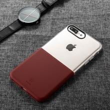 BASEUS Ударопрочный мягкий жесткий 2 в 1 Мобильный Телефон Защитный Чехол для iPhone 7 Мягкие Силиконовые Жесткий Назад Case Для iPhone 7 7 plus