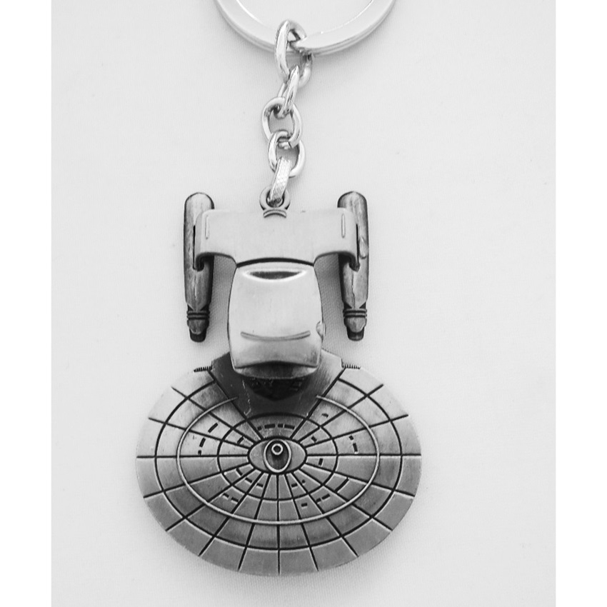 Cool Stainless Steel Space Ship Design Keychains Best Gift for Friend