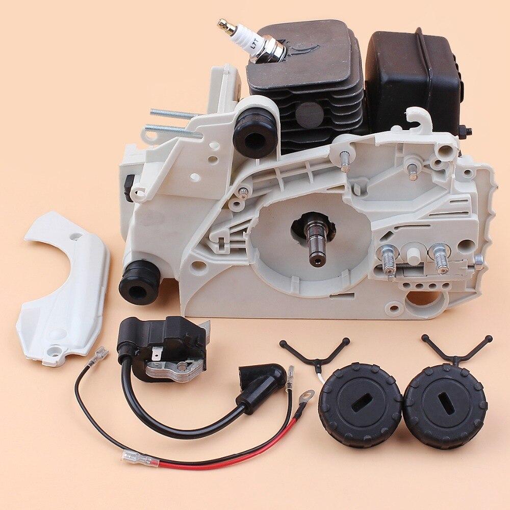 Cárter 38mm cilindro pistão silenciador bobina de ignição virabrequim topo do motor reparação kit apto stihl 018 ms180 017 ms170 motosserra