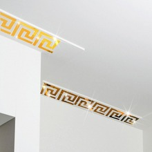 Environmentally-friendly stereo mirror wall stickers stairs living room baseboard decorative