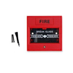 Image 4 - Quebre o vidro da porta de emergência interruptor de botão de saída liberação urgente botão firme interruptor de alarme para o Sistema de Segurança de Bloqueio vermelho/verde