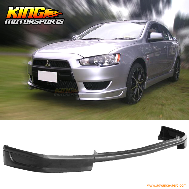 For 08 09 10 11 12 13 14 15 Mitsubishi Lancer PU Front Bumper Lip Spoiler Urethane Bodykit fit 05 06 07 08 09 10 11 12 13 chevy corvette c6 base front bumper lip splitter spoiler pu