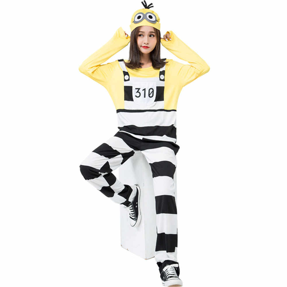 Minion Halloween Costumes For Girls.Movie Minions Costume Sexy Female Minion Night Party Fancy Dress Halloween Costume