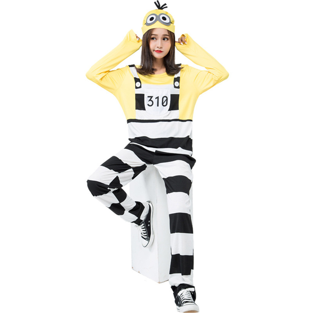 Movie Minions Costume Sexy Female Minion Night Party Fancy Dress Halloween costume