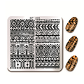 BORN PRETTY Ethnic Design Nail Stamping Template  6*6cm Square Manicure Nail Art Image Plate BP-X05