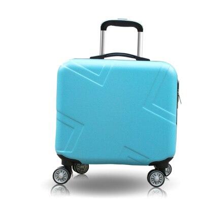 """Набор чемоданов комплект багажных сумок на колесиках Spinner Тележка Дело 1"""" посадочное колесо женщина косметичка carry-on чемодан дорожные сумки - Цвет: 18inch"""