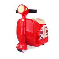 Letrend New Fashion Style Cute toy motorcycle shape Kids Children Rolling Luggage Boy and Girl Trunk Trolley Suitcase