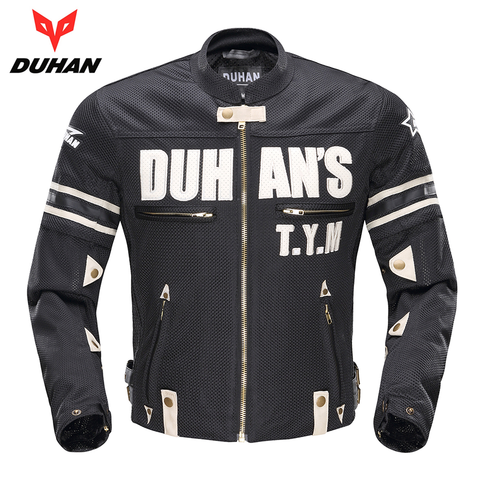 DUHAN Spring Summer Motorcycle Jacket Men Breathable Mesh Motorbike Jacket Motorcycle Clothing Protective Gear Moto Jacket 2017 new camel outdoor spring summer skin clothing girls waterproof breathable windbreaker sun protective jacket a7s1u7178