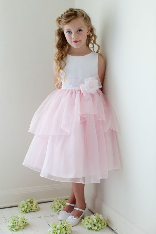 A-Line Holy Communion Dresses Kneee-Length Flower Girls Dresses For Wedding Gowns Mother Daughter Dresses for Girls