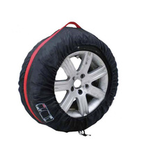 4 Pcs Polyester Car Tire Cover Case for Wheel Protector