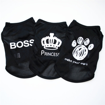 Princess Boss K9 Dog Clothes For Small Dogs Shirt Chihuahua Puppy Shirt Cool Pet Vest French Bulldog T shirt Teddy Costume