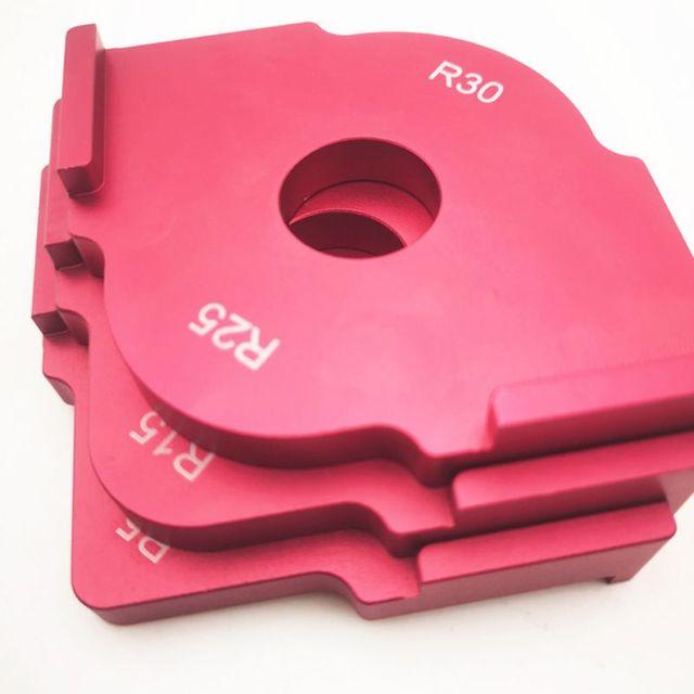 Plantillas de enrutador Jig radio de recorte de carpintería esquinas de radio de aleación de aluminio R5 R10 R15 R20 R25 R30
