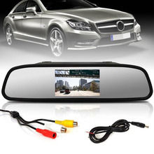 Mayitr 1pc 4.3 Inch LCD Color Mirror Monitor Professional Car TFT Rear View for Reverse Backup Camera