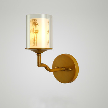 Chinese wall lamp bedroom bedside corridor retro Chinese wind bamboo wall light and lanterns hotel decorative art lw5181121py
