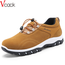 Vcock 2017 Good quality sneakers man shoes Climbing Breathable Working canvas shoe Hard-Wearing Outdoor Elastic band Rubber sole