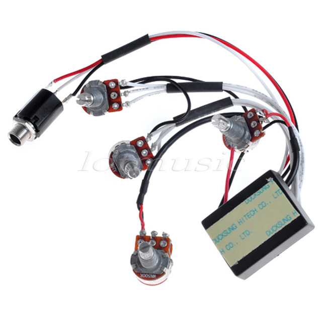 2Pcs 3 Band Active Guitar EQ Preamp Circuit Tone Volume Pots Equalizer Wiring Harness_640x640q90 online shop 2pcs 3 band active guitar eq preamp circuit tone