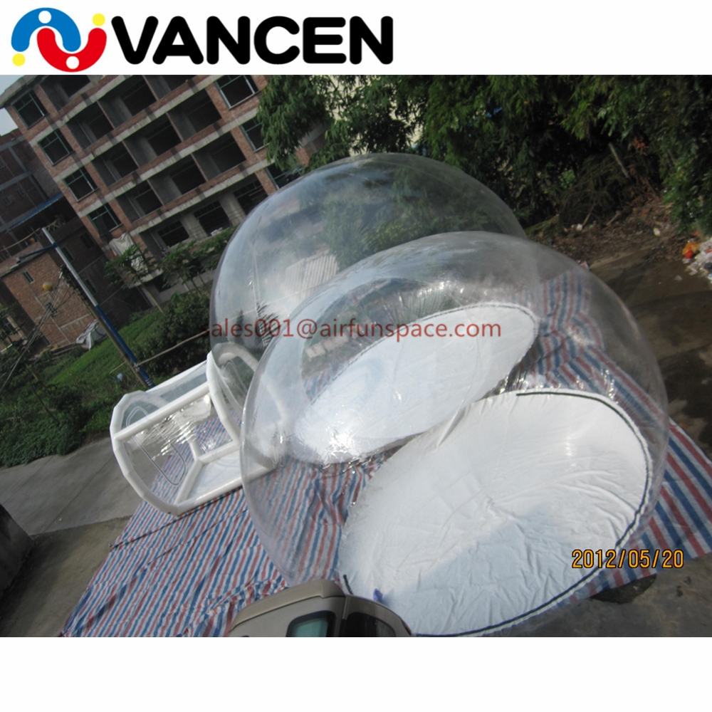 4mH Double rooms tent home used inflatable games transparent bubble tent cheap inflatable clear dome tent for camping - 3