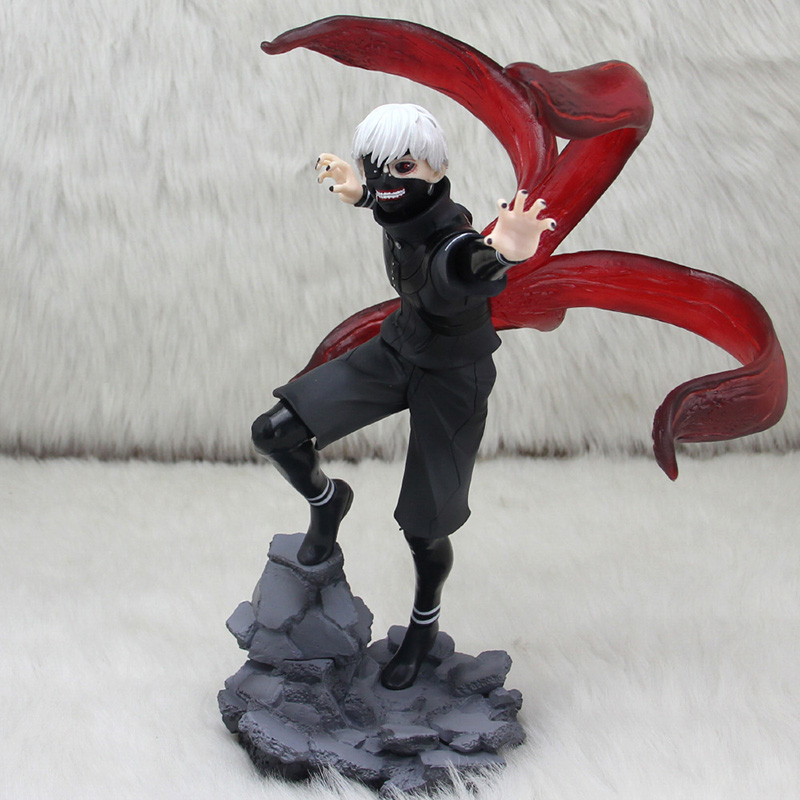 ZXZ Large ver. Tokyo Ghoul Anime Cartoon Character Kaneki Ken Figure 23cm PVC Action Figure Model Toys Collectibles Gift zxz 23cm anime nisekoi kirisaki chitoge 1 8 cute sexy girl pvc figure toys action figure toys collectible model gifts