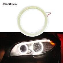 Keenpower Car LED Light Angel Eyes COB Headlight Diaphragm Light Circle Ring Modified Car Lights Angel