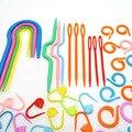 Вязаный Набор для вязания крючком игла зажим крючком крючок пластиковый вязаный стежок ремесленные маркеры инструмент Аксессуары для шить...