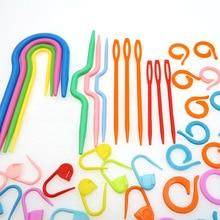תפירת כלי סט מחט קליפ הסרוגה וו פלסטיק לסרוג תפר מלאכת סריגה סרוגה בית שימוש פלסטיק סמני תפר צלב