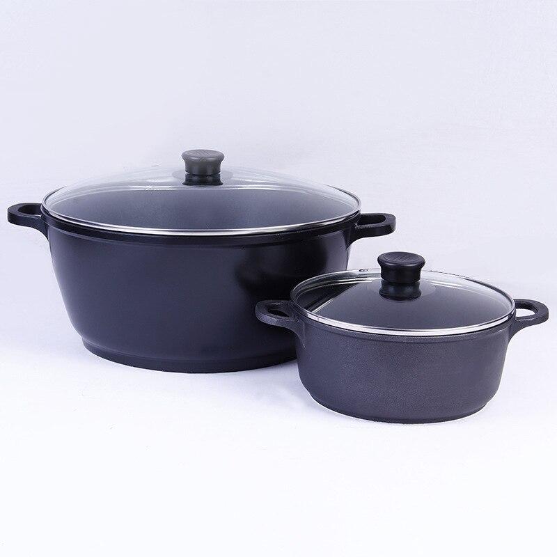 Les Pots de cuisine japonais en alliage d'aluminium fin utilisent des Pots à soupe utilisés dans divers poêles avec des Pots antiadhésifs à Double gomme à soupe profonde
