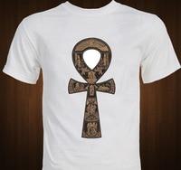 Símbolo Ankh Egipcio Artefacto antiguo egipto T Camisa de los hombres ocasionales 100% algodón tee EE. UU. tamaño S-3XL