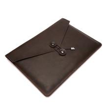 Leather Document Bag Genuine Business Men File Joy Corner